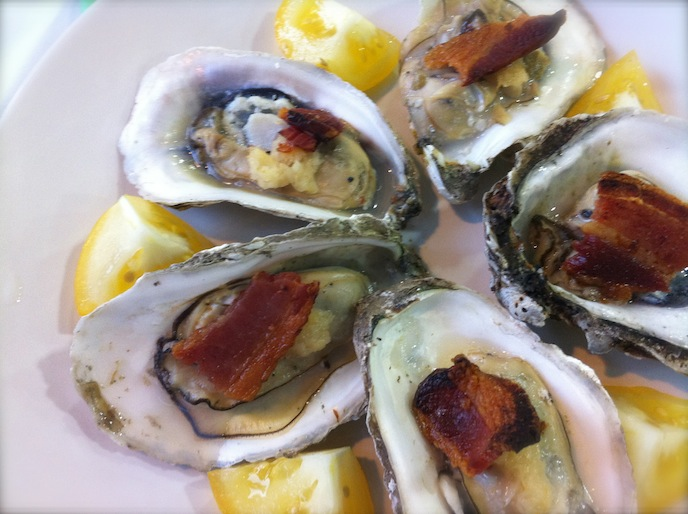 Cooking With Egg: Horseradish and Bacon Baked Oysters